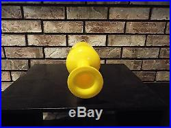 12 MID CENTURY YELLOW CASED ART GLASS VASE BY OTTO BRAUER FOR HOLMEGAARD