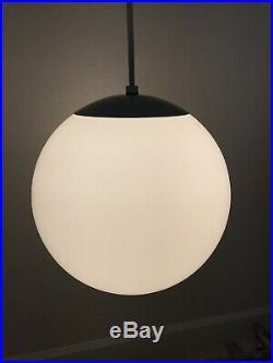 12dia Vtg Mid Century Modern Glass Globe Orb Hanging Ceiling Light Pendant Lamp