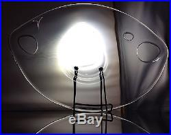 14 Timo Sarpaneva Mid Century Modern Art Glass Bowl Scandinavian Signed TS Rare