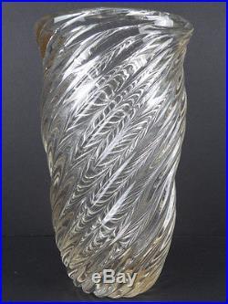 1930's Signed Venini Murano Italy Carlo Scarpa Diamante Vase Mid Century Eames