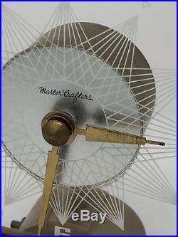 1950's Mastercrafters No 146 Starlight, mid century mod glass faced clock. Runs