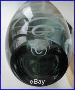 1955 Midcentury Modern Nyman Notsjo Nuutajarvi Finland Art Glass Serpentine Vase