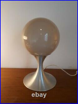 1960s SPACE AGE CHROME AND GLASS TABLE LAMP