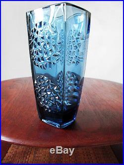 1964 HOBNAIL SKLO UNION ART GLASS VASE MID-CENTURY MOD EAMES ERA on MARK HILL