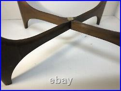 1970 Lane Silhouette Pearsall Era Glass Top Coffee Table Mid Century Mod