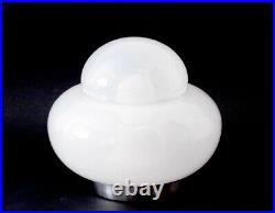 1970s TABLE LAMP ITALY SPACE AGE DESIGN GLASS CHROME VINTAGE MID CENTURY SPUTNIK