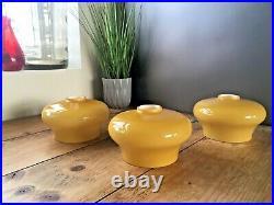 1 Danish Scandinavian Style Amber Glass 60's 70's MID Century Light Lamp Shade