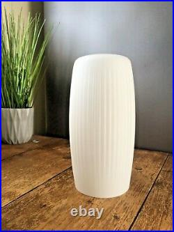 1 Gorgeous Danish Opaline Glass 70s Rippled Op Art MID Century Modern Lamp Shade