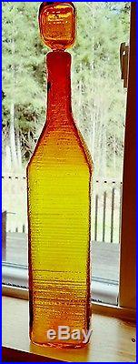 20 Blenko Glass Wayne Husted Decanter Amberina Mid Century Art Modern