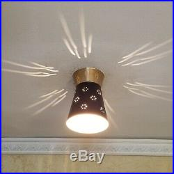 234 50s 60s Vintage Ceiling Light Lamp atomic midcentury eames retro hall foyer