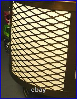 2 Mid-Century Modern Brutalist Chunk Glass Light Fixture Chandelier Pair Vintage