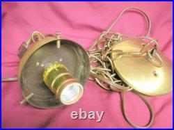 2 Mid Century Teardrop Glass Hanging Swag Light Lamp Fixture Mint Art Deco Set