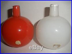 2 Orrefors art glass expo cabinet vases Circa 1950 Lundin mid century modernist