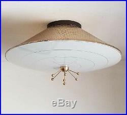 367 50s 60s Vintage Ceiling Light Lamp Fixture atomic midcentury eames sputnick