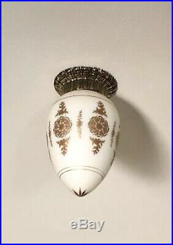 3 Mid century Filigree Ceiling Flush mount Light Fixture Sconce Vintage