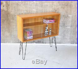 60er VITRINE KOMMODE KIRSCHHOLZ MID-CENTURY 60s GLASS CABINET VINTAGE 50er 50s