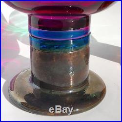 60s KAJ FRANCK Large Mid Century Modern ART GLASS Goblet Nuutajarvi ARABIA