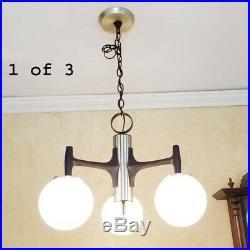 649b 70's Vintage Ceiling Light Lamp Fixture atomic mid-century eames Chandelier