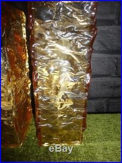 A PAIR OF RETRO MID CENTURY PLEXI GLASS WALL LIGHTS 1960/70's