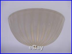 Attrib. VENINI Murano golddust glass flushmount ceiling lamp fixture MID CENTURY