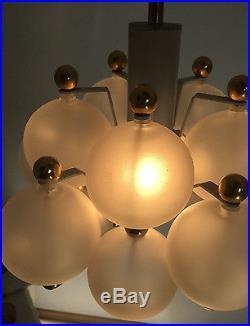 Austrian Glass Ball Chandelier Kalmar Mid Century Modern 1960s