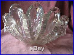 BEAUTIFUL Vintage ERCOLE BAROVIER Mid Century MURANO Glass CLAM SHELL