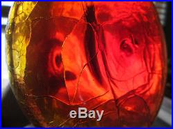 BLENKO #6516 Joel Myers Tangerine/Amberina Ships Decanter Modern Mid-Century