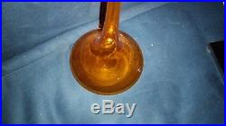 BLENKO Shot Glass Tangerine Decanter Wayne Husted Mid Century Modern as is