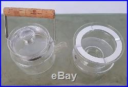 BODA NOVA GLASS TEAPOT & STAND PERSSON MELIN 1971 MID CENTURY SCANDINAVIAN