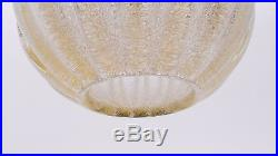 Barovier &Toso Murano globe ball golddust glass pendant lamp MID CENTURY 40s/50s