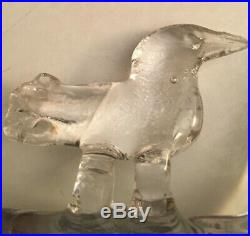 Bertil Vallien Kosta Boda Horse With Bird, Art Glass, 1960's, Mid Century Modern
