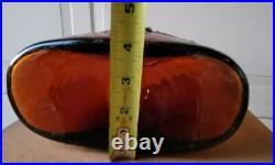 Blenko Butterfly Decanter/ W Stopper 6527 Joel Myers Honey Mid Century Modern MC