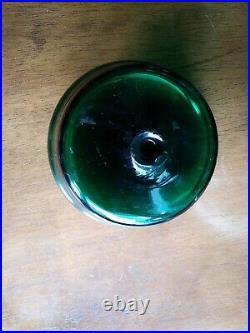 Blenko Glass 7229 Ginger Jar John Nickerson 1970s Green Mint Mid Century Modern