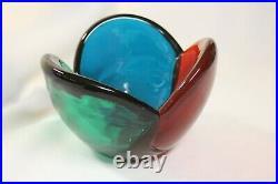 Blenko Mid-Century Modern Tri-Colored Bowl, Wayne Husted, #5831