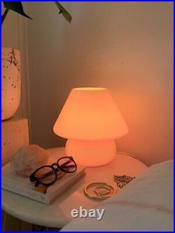 Blue Mushroom Lamp, Murano Style Glass Lamp, Desk Lamp