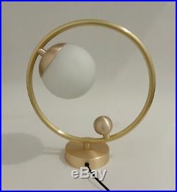 Brass Mid Century Bedroom Glass Ball Desk Lamp Modern Industrial Nightstand Lamp