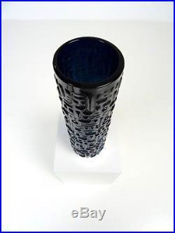 Brutalist Glass Vase 835 Silver Socket MID Century Modernism By Emil Funke
