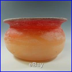 Cenedese, Signed Murano Italian Mid-century Modern Art-glass Scavo Vase / Bowl