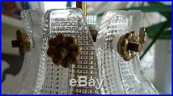 Carl Fagerlund Orrefors Sweden Ice Glass Modernist Lampe Chandelier MID Century