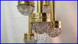 Cascade Chandelier Pendant Ceiling Light Brutalist FAGERLUND Murano Glass Venini