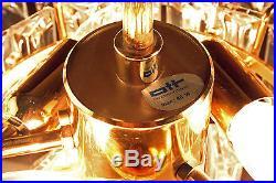 Chandelier Pendant Lamp Crystal Glass Gold PALME Vintage Mid-Century Modern