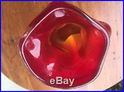 Dino Martens 1950s Mid Century VERY RARE Design Glass Vase Vessel Italian Murano