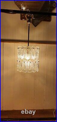 Doria Leuchten Pressed Glass Chandelier, Mid-Century 1960s