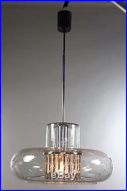 Doria Pendant Lamp Volcano Glass Chandelier Design Mid Century 1960's