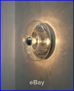 Doria hand blown bubble glass flush mount or wall lamp design Mid Century Modern