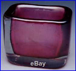 Fine MID Century Modern Signed Venini Murano Italian Art Glass Carlo Scarpa Vase