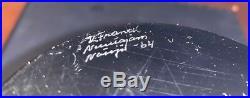 FINLAND MID CENTURY MODERN KAJ FRANCK Art Glass VASE BLUE 1964 Nuutajärvi SIGNED