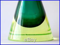 FLAVIO POLI sommerso glass vase murano seguso vetri d'arte 50s 60s midcentury