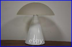 F. Fabbian Murano Glass White Table Lamp Mid Century