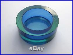 Fine Vtg Mid Century Modern Seguso Murano Italian Art Glass Sommerso Geode Bowl